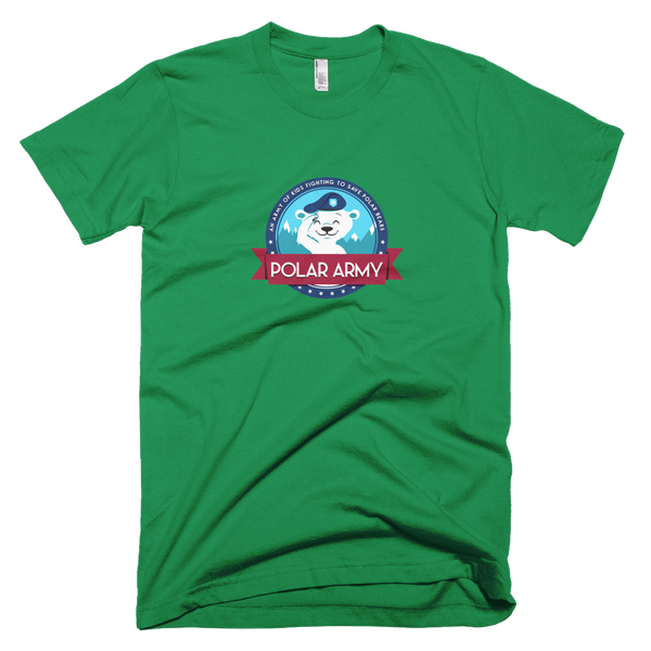 Image of Adults Polar Army T-Shirt (Kelly Green)