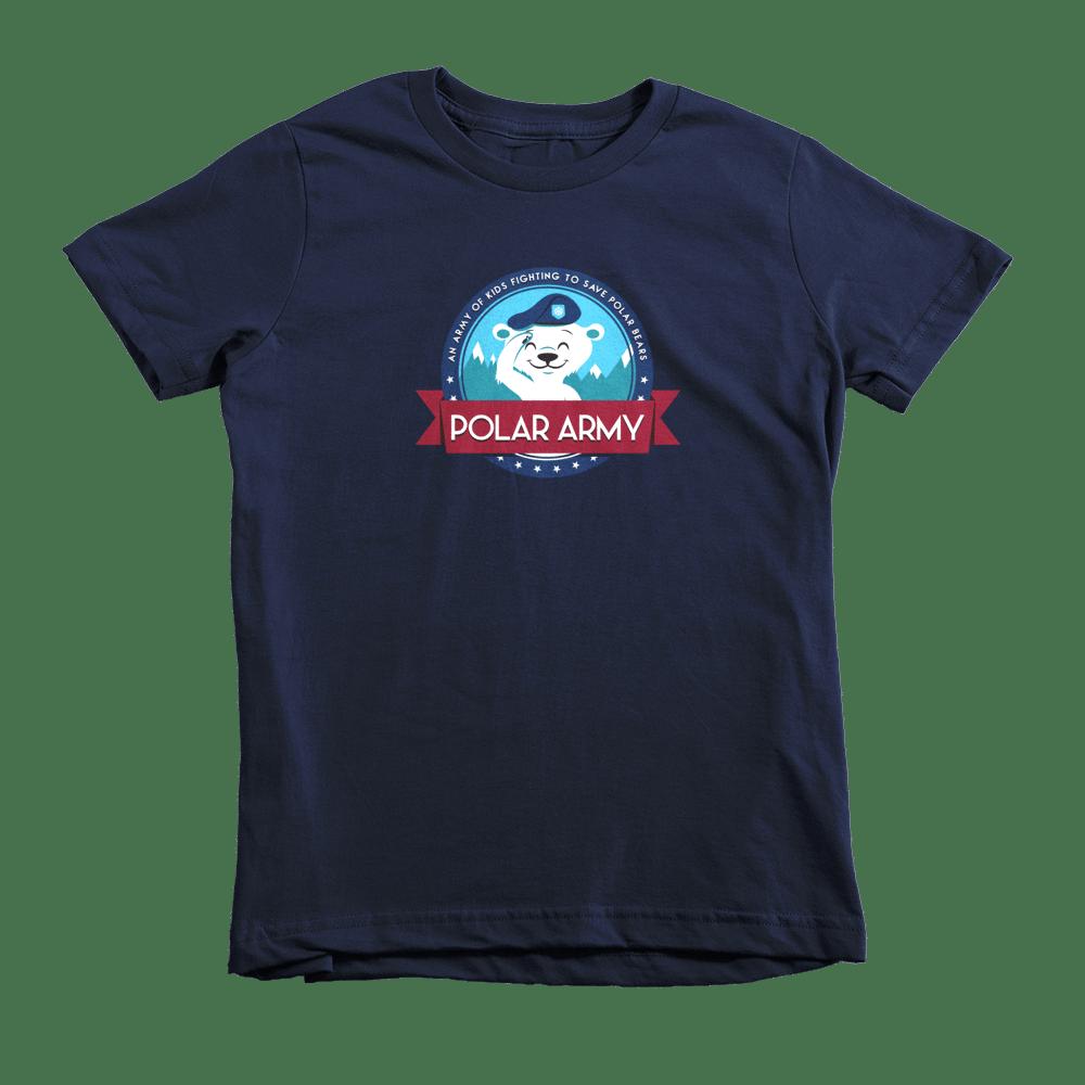 Image of Kids Polar Army T-Shirt (Navy)