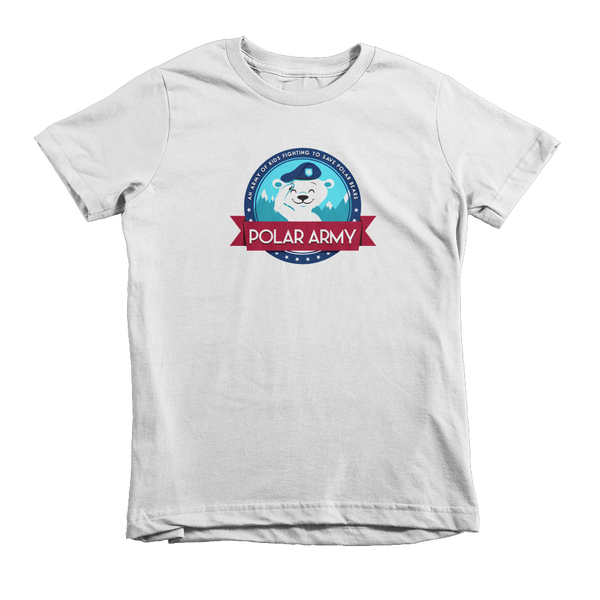 Image of Kids Polar Army T-Shirt (White)