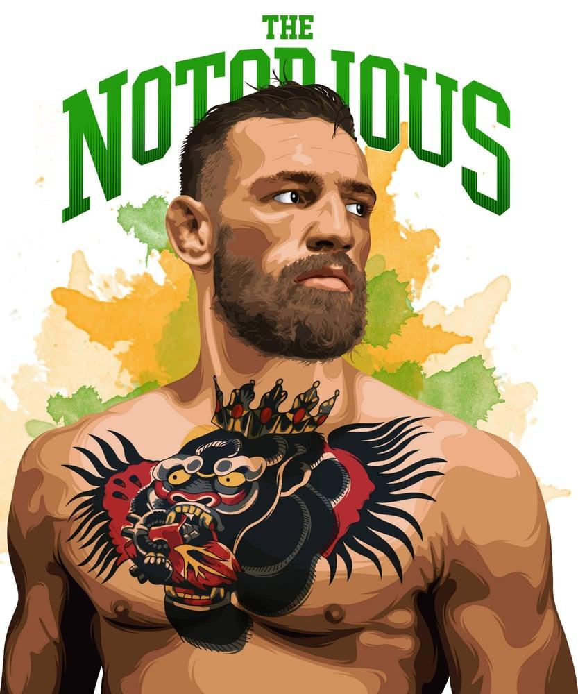 Big O Auto >> The Notorious Conor McGregor Print   ThomasMooreArt