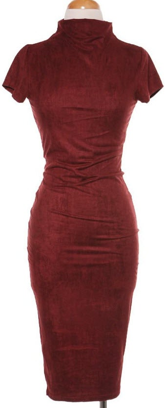 Image of Bri Suede Midi Dress