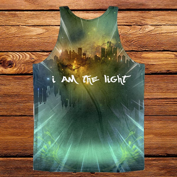 "Image of ""I am the Light"" sublimated tank"