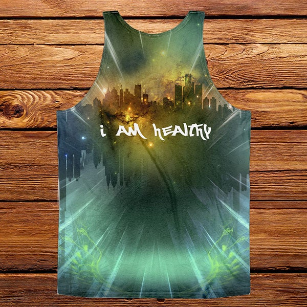 "Image of ""I am Healthy"" sublimated tank"