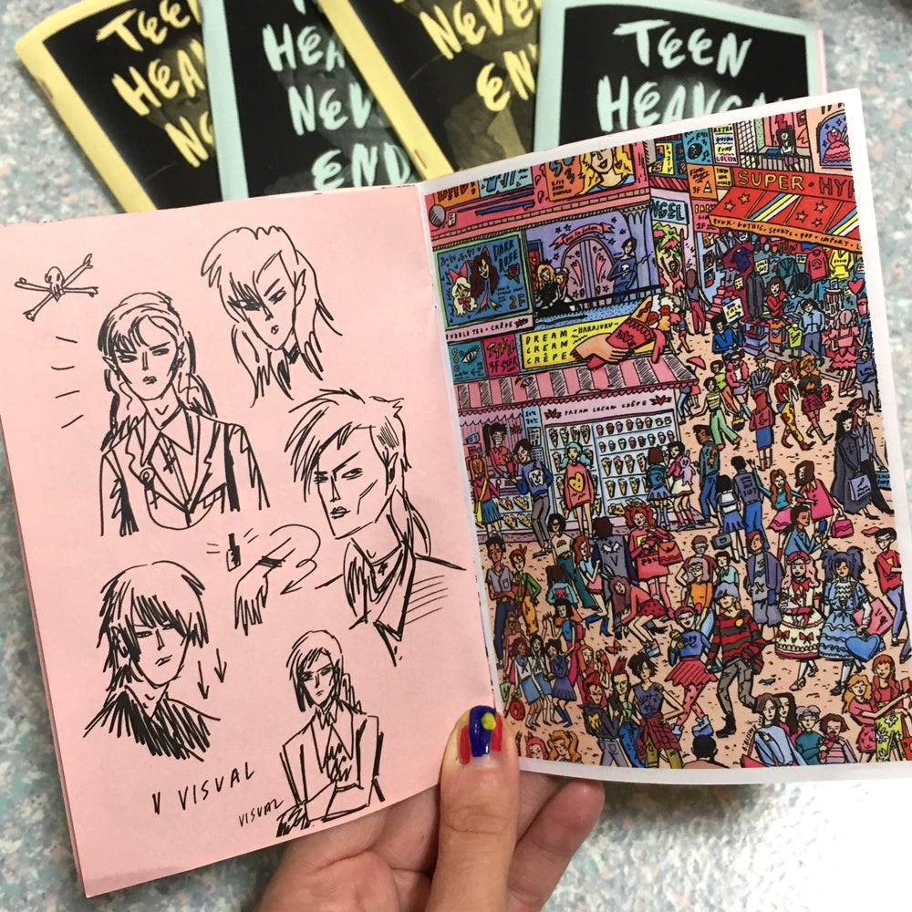 Image of 'TEEN HEAVEN NEVER ENDS' ZINE - BUNNY BISSOUX