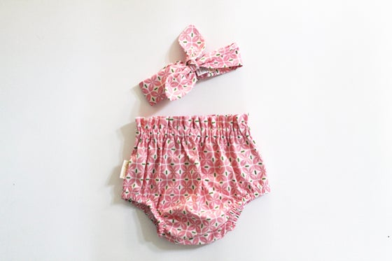 Image of Top Knot Set - Geo Pink