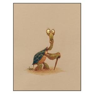 "Image of ""Elderly Tortoise"" Print"