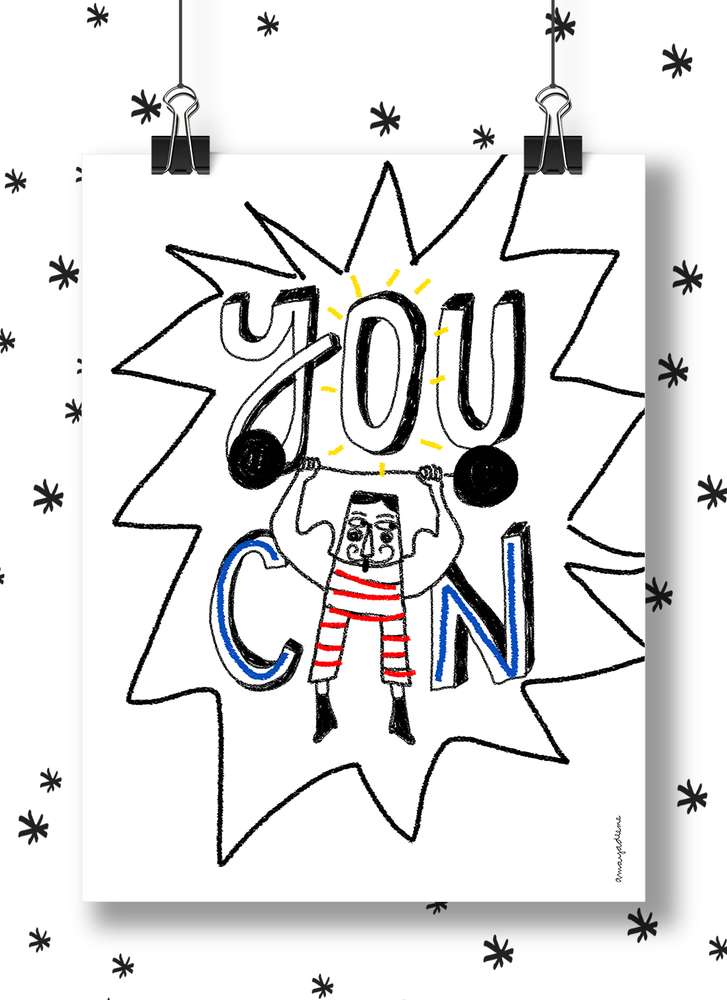 "Image of Lámina ""You Can"""