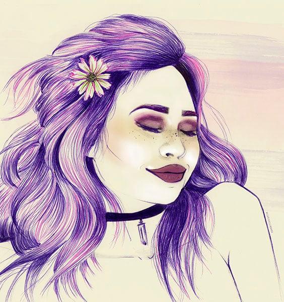 Image of Purple Lady