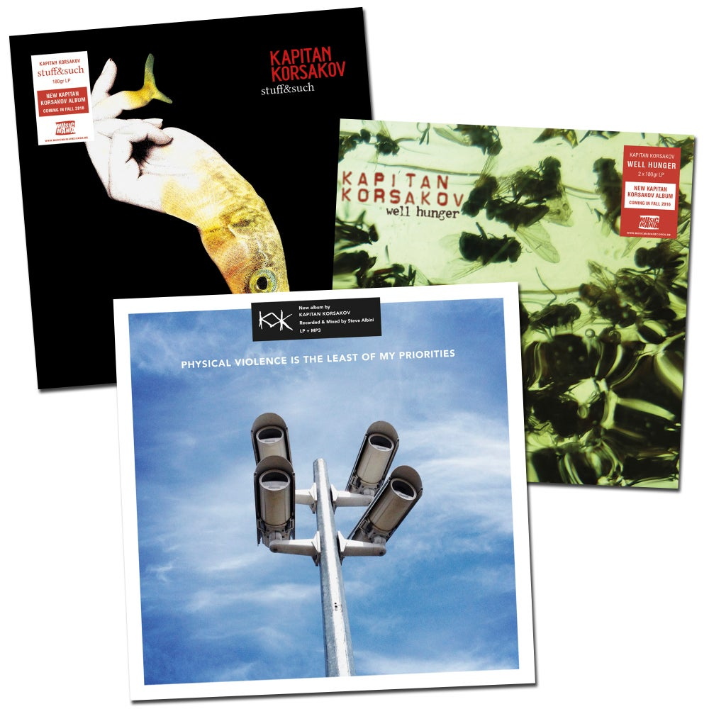 Image of 3xLP Well Hunger + Stuff & Such + Physical Violence Is The Least Of My Priorities