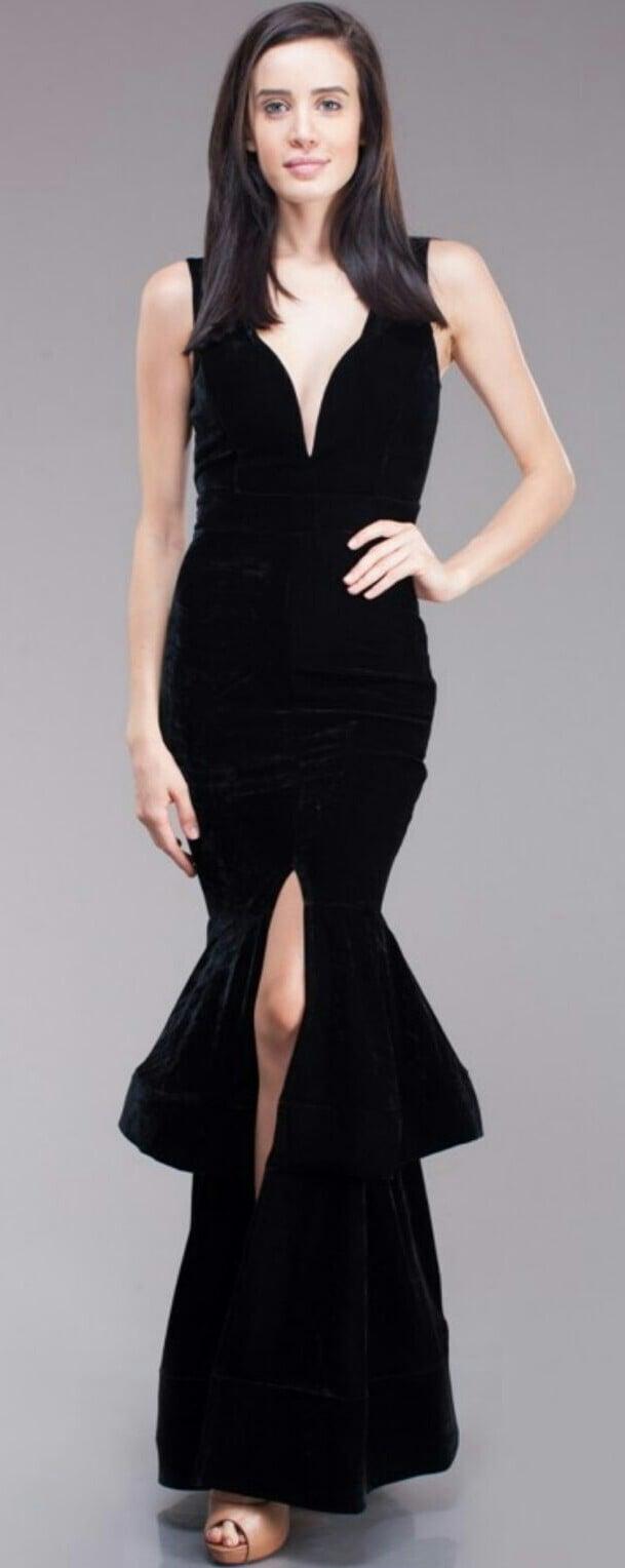 Image of Velvet layed mermaid dress