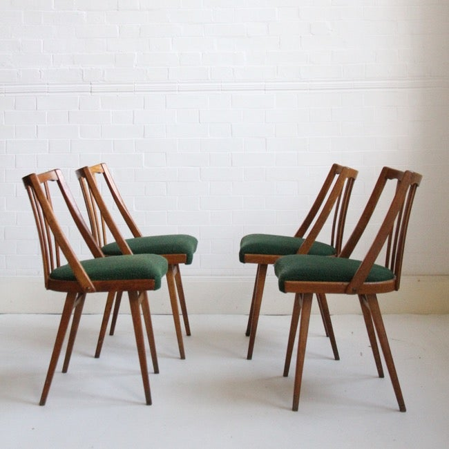 Image of Midcentury Czech Dining Chairs, c1960s (set of four)