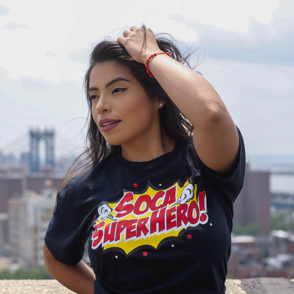 """Image of Men & Women """"Soca Super Hero"""" T-Shirt - Various Colors"""