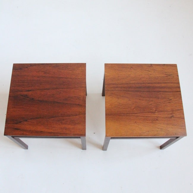 Image of Pair of rosewood tables c1960s