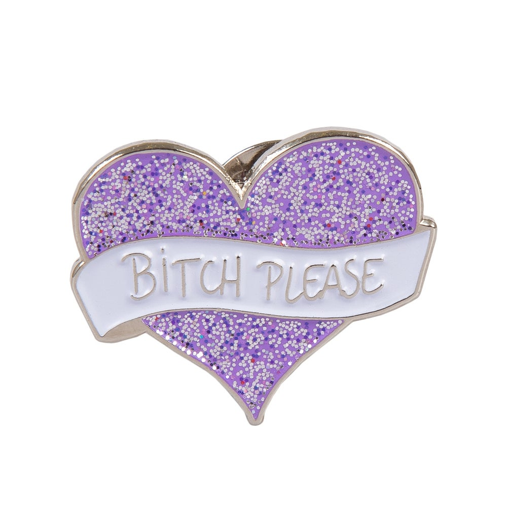Image of Bitch Please Heart Enamel Pin