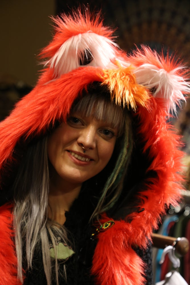 Image of Funky Red Bolli Bear Hood