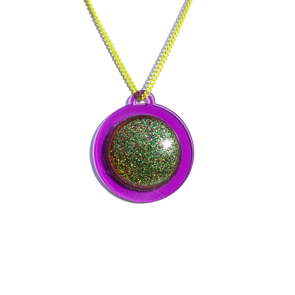 "Image of Purple Pendant Necklace - ""Frog Prince"""