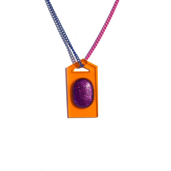 "Image of Orange Pendant Necklace - ""Fizzy"""