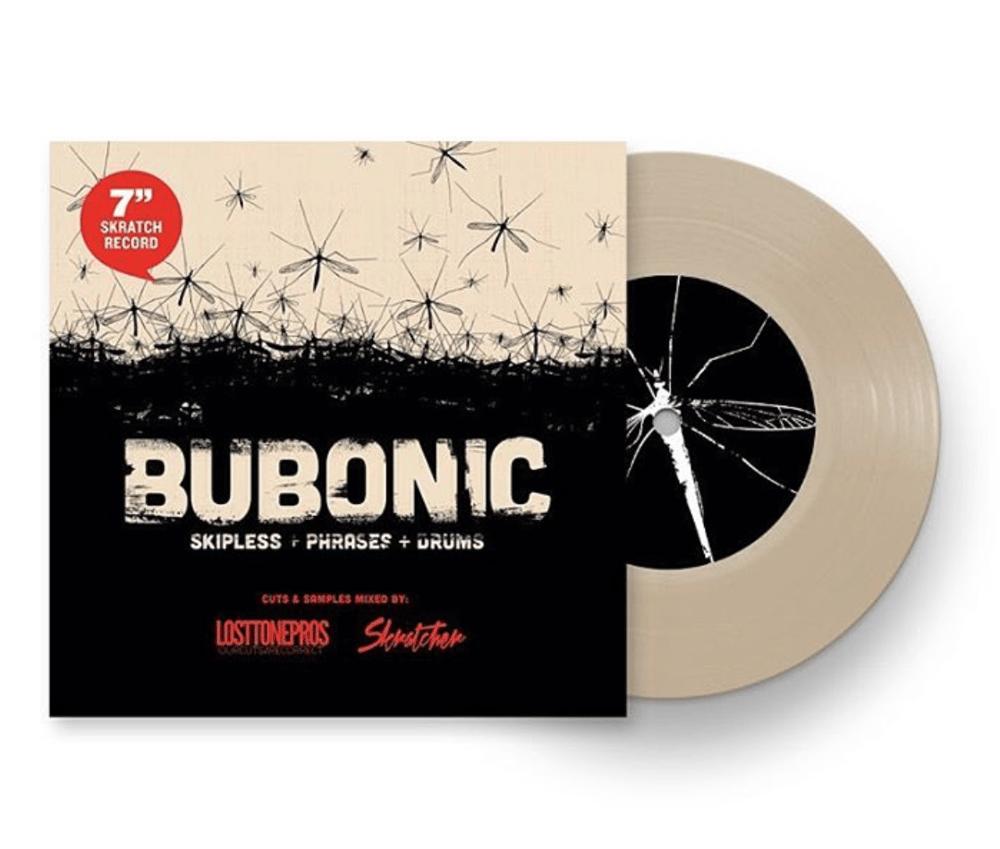 Image of BUBONIC BREAKS - Skratcher x Lost Tone Pros 7' (SAND COLOR VINYL)