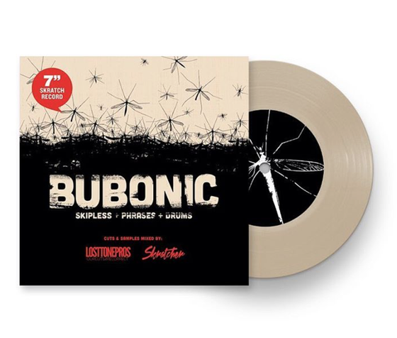 Image of BUBONIC BREAKS - Skratcher x Lost Tone Pros 7' (SAND COLOR VINYL)
