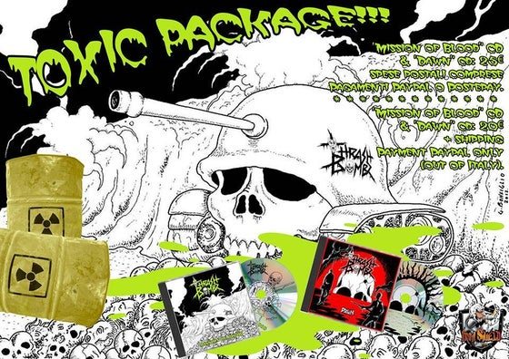 "Image of TOXIC PACKAGE !!! ""Mission of Blood"" CD & ""Dawn"" CD"