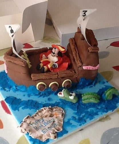 Fine Forest House Cakes Captain Hook Pirate Ship Personalised Birthday Cards Arneslily Jamesorg