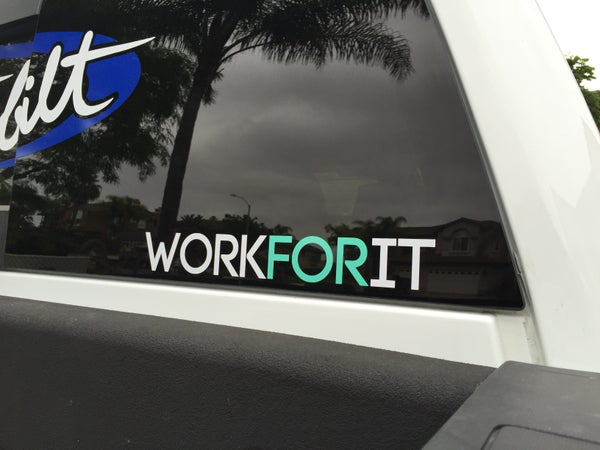 Image of WORKFORIT Decal