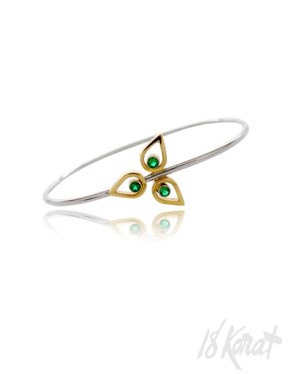 Emerald Trillium Bracelet - 18Karat Studio+Gallery