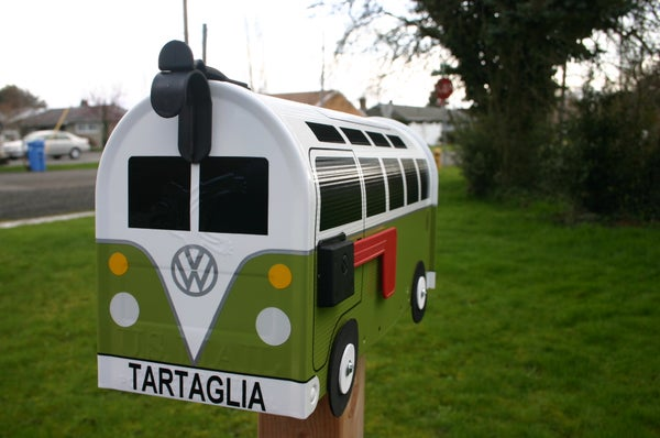 Image of 21 Window Made To Order Volkswagen Bus - Eden Green Mailbox by TheBusBox - Choose Your Color