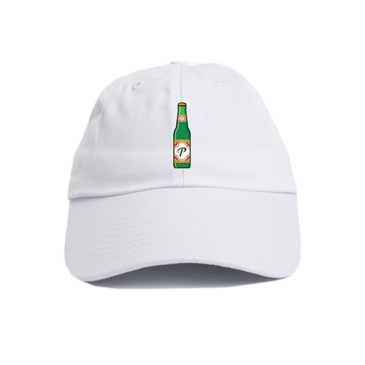 Image of Peralta Project + Brunch Bounce 'Cheers' Cap (White) [Pre-Order]