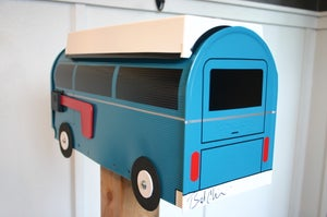 Image of Teal Volkswagen Camper Bay Window Bus Mailbox By TheBusBox - Choose Your Color