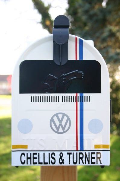 Image of Custom Herbie Style Volkswagen Bay Window Camper Bus Mailbox by TheBusBox