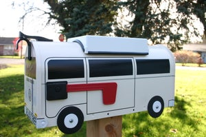 Image of Custom Herbie Style Volkswagen Bay Window Camper Bus Mailbox by TheBusBox
