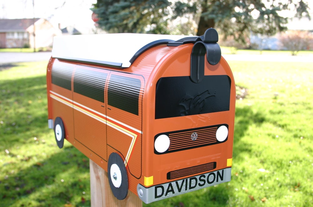 Image of Custom Striped Cinnamon Volkswagen Vanagon Camper by TheBusBox - Choose Your Color