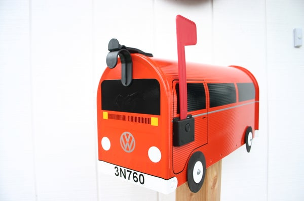 Image of Orange Volkswagen Bay Window Bus by TheBusBox - Choose Your Color