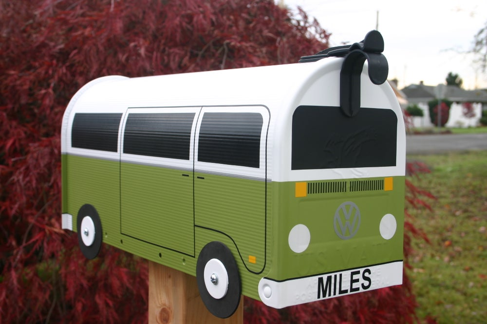 Image of Green Two Tone Volkswagen Bay Window Bus by TheBusBox - Choose Your Color VW