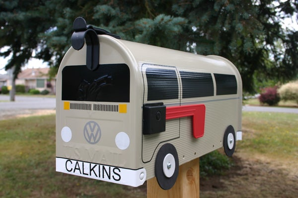 Image of Tan Bay Window Volkswagen Bus by TheBusBox - Choose Your Color VW