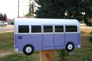 Image of Lilac Volkswagen Split Window Bus by TheBusBox - Choose Your Color VW Purple