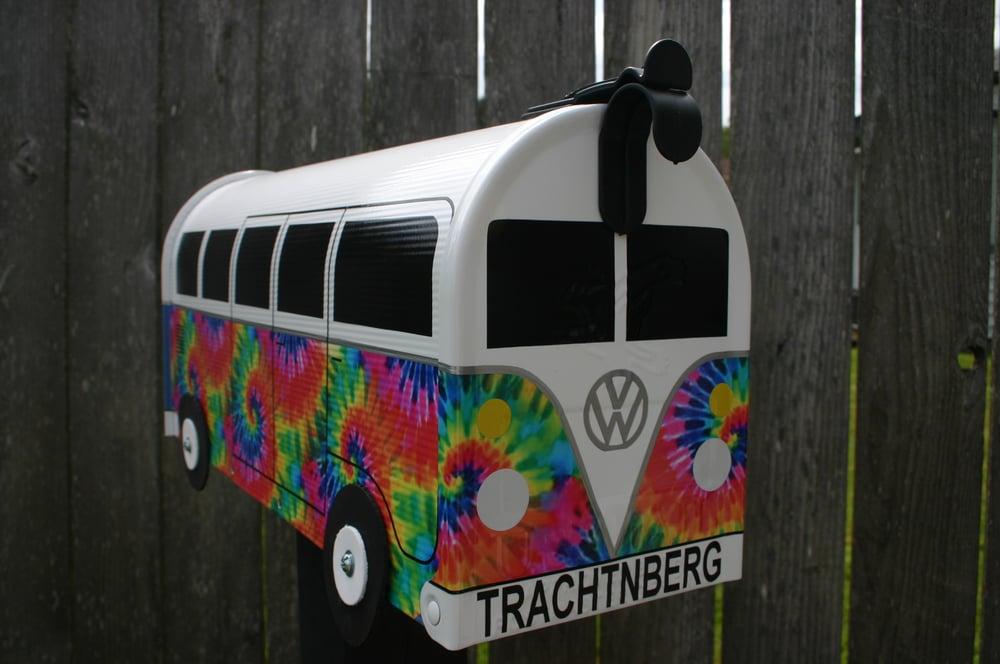 Image of Tie Dye Volkswagen Bus by TheBusBox - Hippie Split Window VW