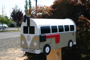 Image of Tan Volkswagen Split Window Bus by TheBusBox - Choose Your Color VW Splitty