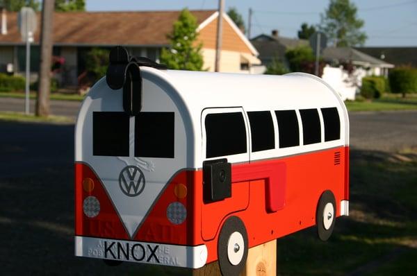 Image of Orange Volkswagen Split Window Bus by TheBusBox - Choose Your Color VW Splity