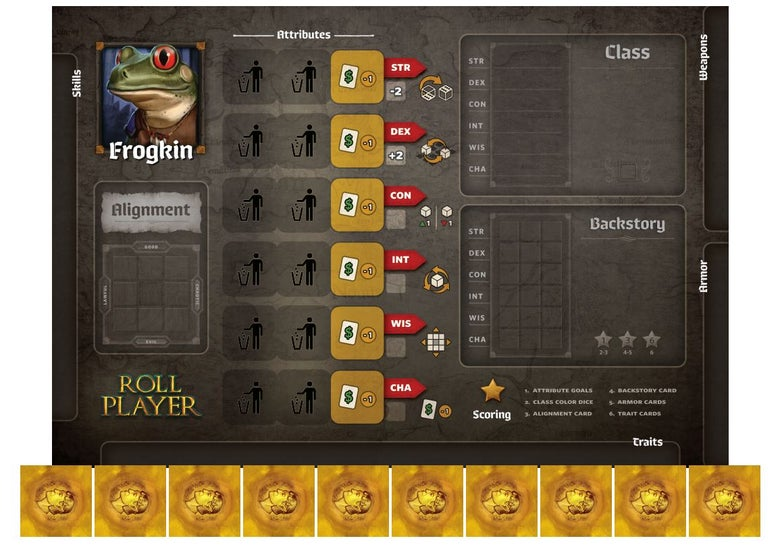 Image of Roll Player - Frogkin Promo Punchboard