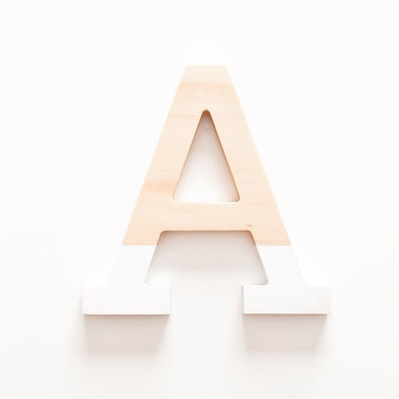 Image of Large Timber Letter - Uppercase