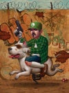 """Luigi Trece"" <br>Limited Edition <br>Farmed Print <br>by Bob Dob"