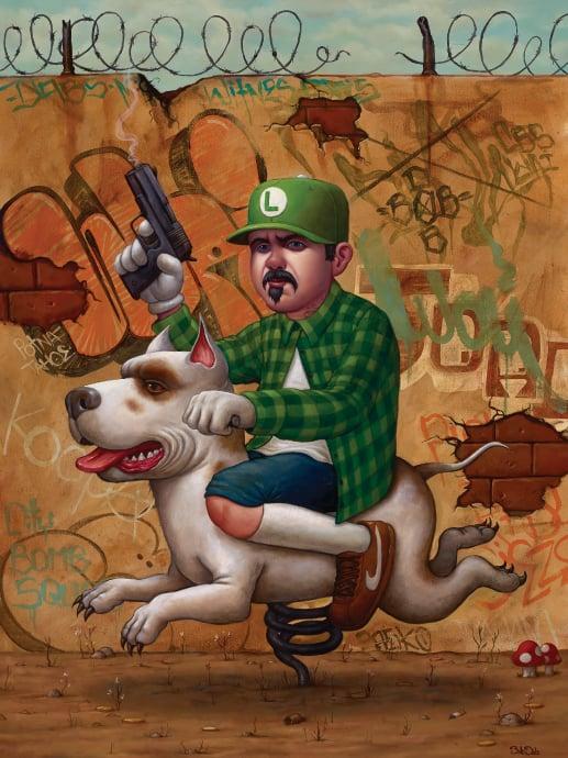 "Image of ""Luigi Trece"" Print by Bob Dob"
