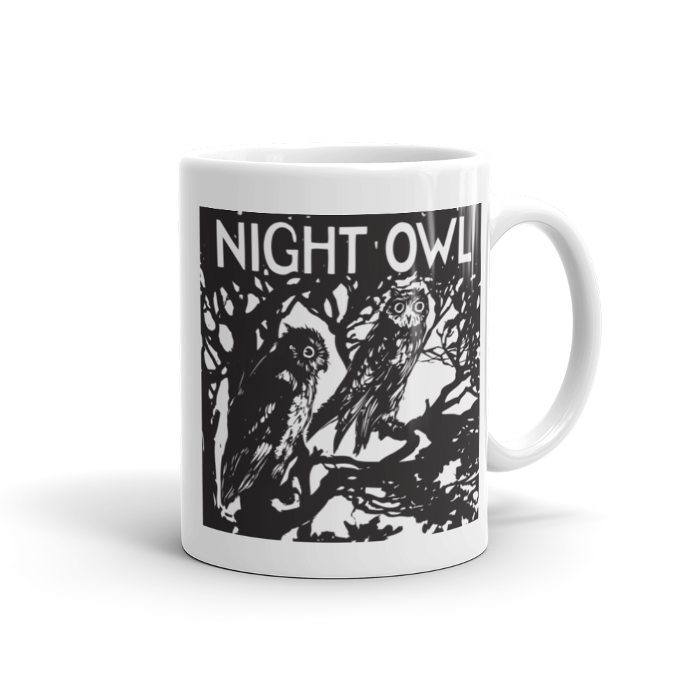 Image of NIGHT OWL Ceramic Coffee Mug, Vintage Flair