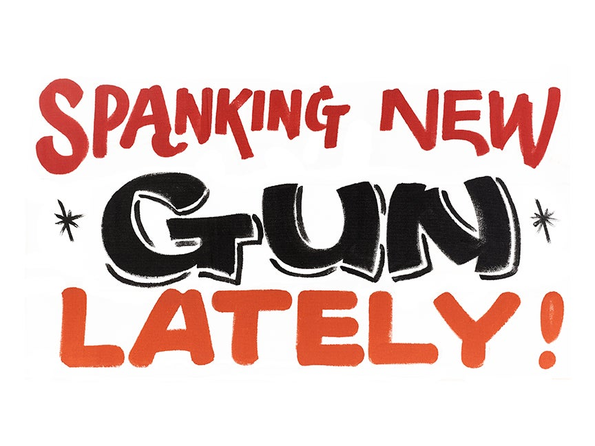 Image of Spanking New Gun Print by Nurse Signs
