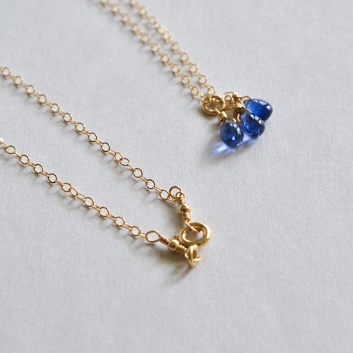 Image of Tiny kyanite necklace 14kt gold-filled