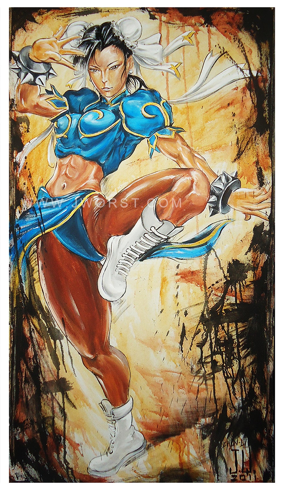 Image of JEREMY WORST Chun Li Sexy girl Artwork Fine Art Print anime fanime momocon dreamhack dragoncon