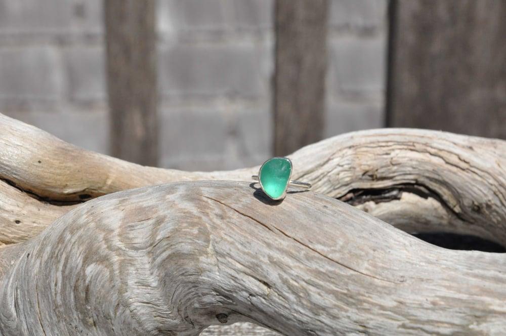 Image of Mermaid Tears of Tofino Aqua Marine Ring