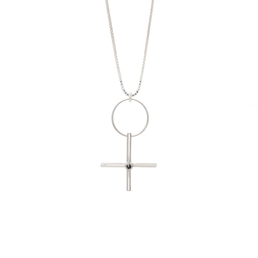 Image of W-Sign Silver Necklace